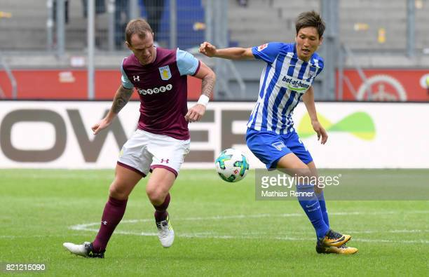 Glenn Whelan of Aston Villa during the game between Aston Villa and Hertha BSC on july 23 2017 in Duisburg Germany