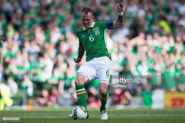 Glenn Whelan of Ireland controls the ball during the FIFA World Cup 2018 Qualifying Round Group D match between Republic of Ireland and Austria at...