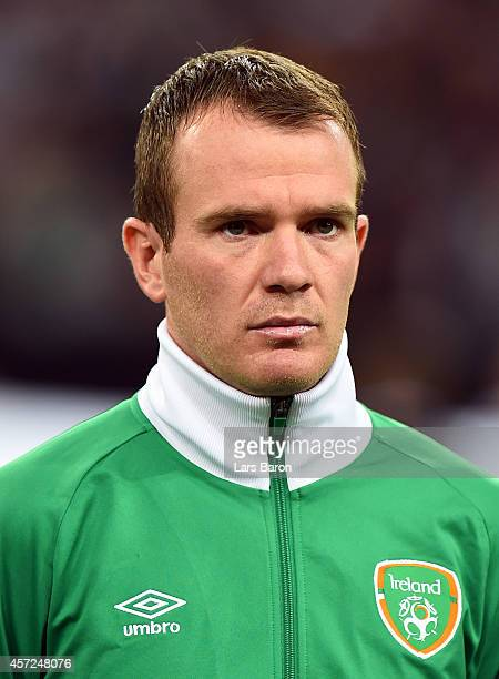Glenn Whelan of Republic of Ireland looks on during the EURO 2016 Group D qualifying match between Germany and Republic of Ireland on October 14 2014...