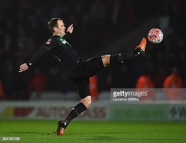 Glenn Whelan of Stoke City controls the ball during the Emirates FA Cup Third Round match between Doncaster Rovers and Stoke City at Keepmoat Stadium...