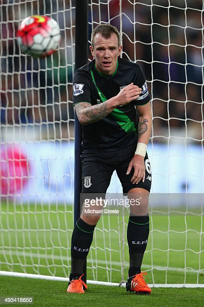 Glenn Whelan of Stoke City during the Barclays Premier League match between Swansea City and Stoke City at the Liberty Stadium on October 19 2015 in...
