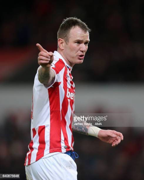 Glenn Whelan of Stoke City during the Premier League match between Stoke City and Everton at Bet365 Stadium on February 1 2017 in Stoke on Trent...
