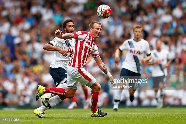 Glenn Whelan of Stoke City in action during the Barclays Premier League match between Tottenham Hotspur and Stoke City at White Hart Lane on August...