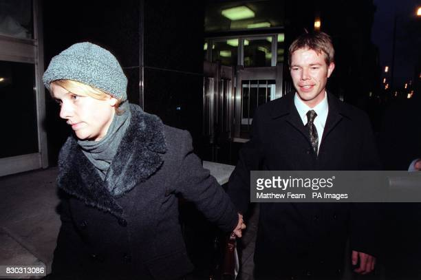 PC Glenn Whiteley leaves Horseferry Road Magistrates Court in London with an unidentified friend The policeman was driving a police van involved in...