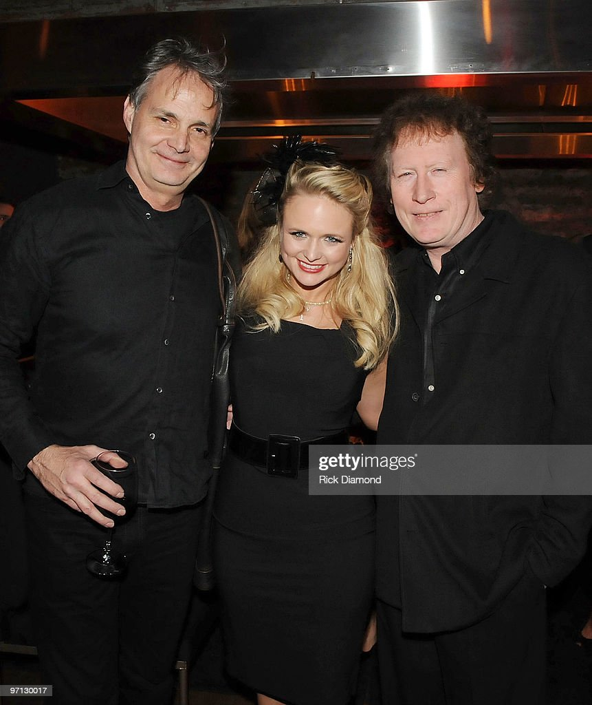 Glenn Worf, Singer/Songwriter Marinda Lambert and Musician Randy Scruggs at the BMI Honors Miranda Lambert's for her First #1single with a 1940's style bash and a few hundred of her friends at The Cellar on February 26, 2010 in Nashville, Tennessee.