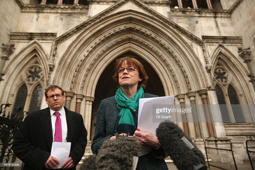 Glenys Stacey, the Chief Executive of Ofqual, the Office of Qualifications and Examinations Regulation, addresses the media outside the Royal Courts of Justice on February 13, 2013 in London, England. The High Court has rejected a legal bid from school leaders, teachers' unions and councils to reassign grade boundaries for GCSE English exams sat in summer 2012.