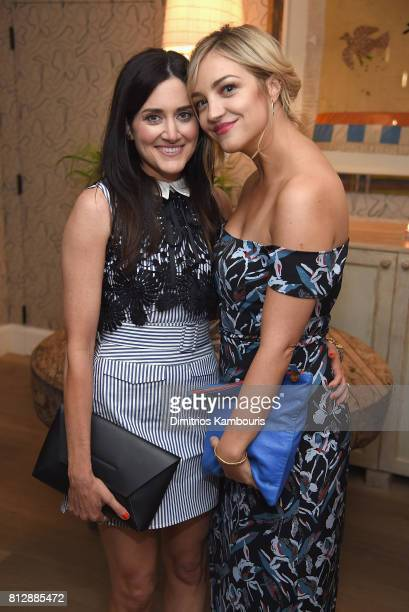 Glick and Abby Elliot attend The Cinema Society Hosts The Season 3 Premiere Of Bravo's 'Odd Mom Out' After Party at the Whitby Hotel on July 11 2017...