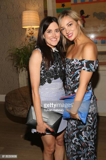 Glick and Abby Elliott attend The Cinema Society Kargo host the after party for the Season 3 Premiere of Bravo's 'Odd Mom Out' on July 11 2017 in New...