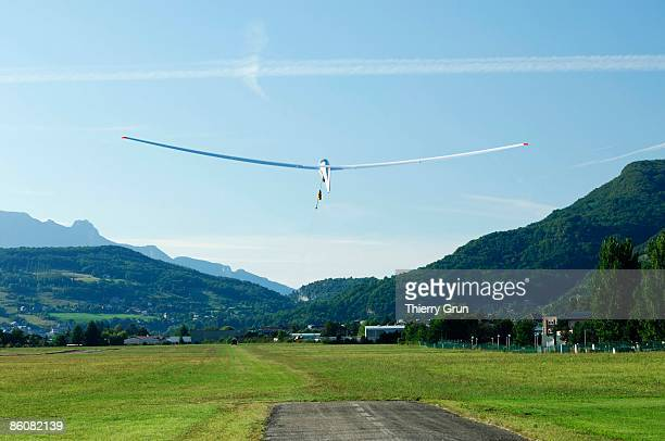 Glider in airfield, France