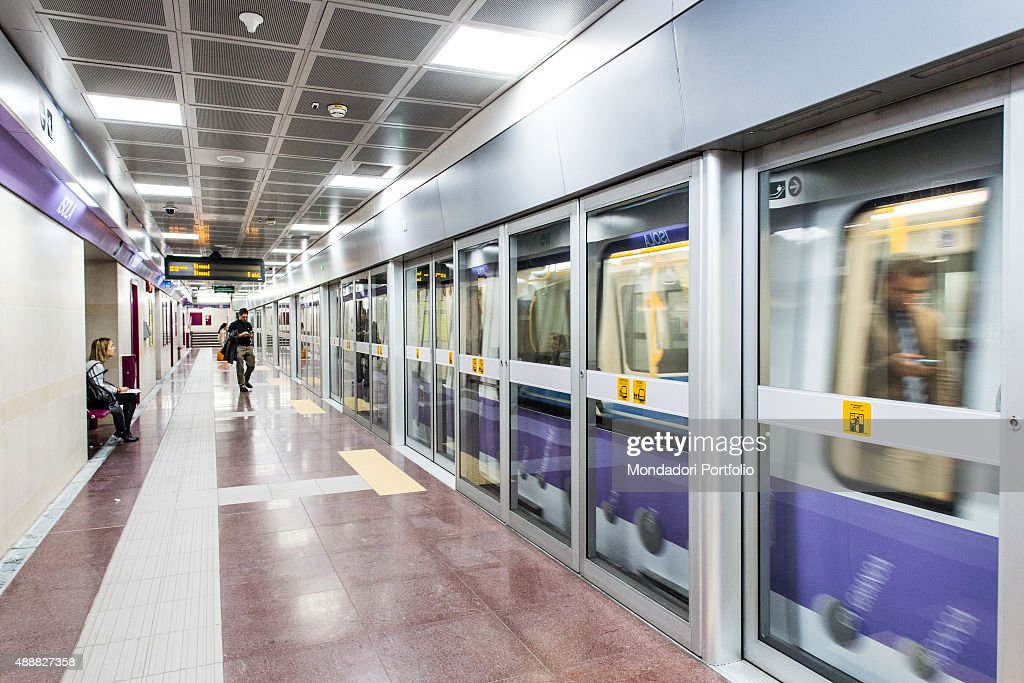 Line M5 on the underground of Milan Pictures | Getty Images