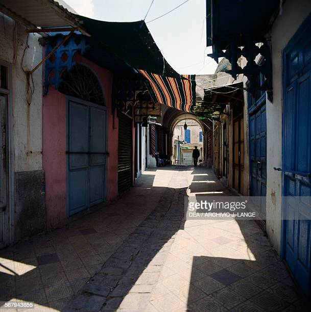 Glimpse of the souk in the Tunis medina Tunis Governorate Tunisia