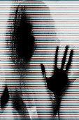 Mysterious glitch portrait