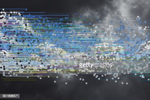 Glitch/Transition of Stormy to Sunny Skies