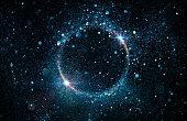 Powder Particles In Burst - Abstract Dark Background