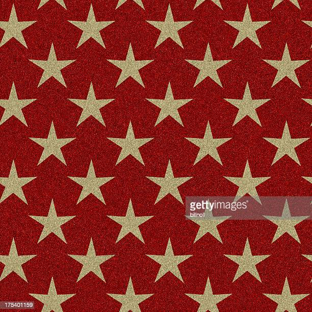 glitter with seamless gold star pattern