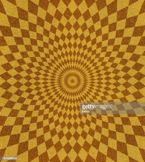 glitter  with spiral pattern