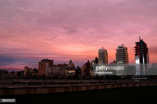 Glittering Condos Pink Sunset