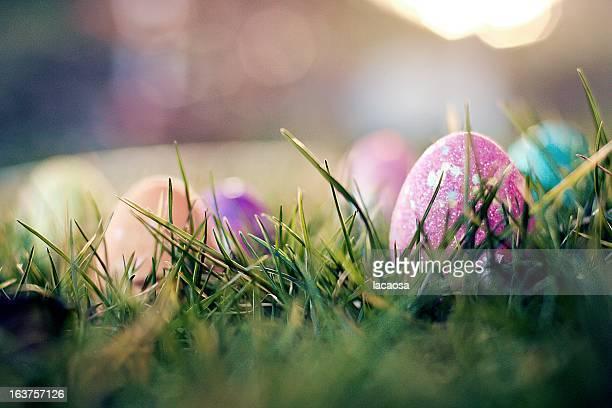 glittering easter eggs