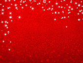 Star lights falling on a glittering red background