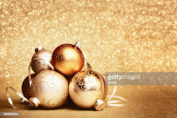 Glittery Christmas baubles