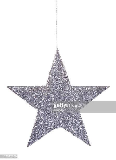 Glitzerndem star-ornament