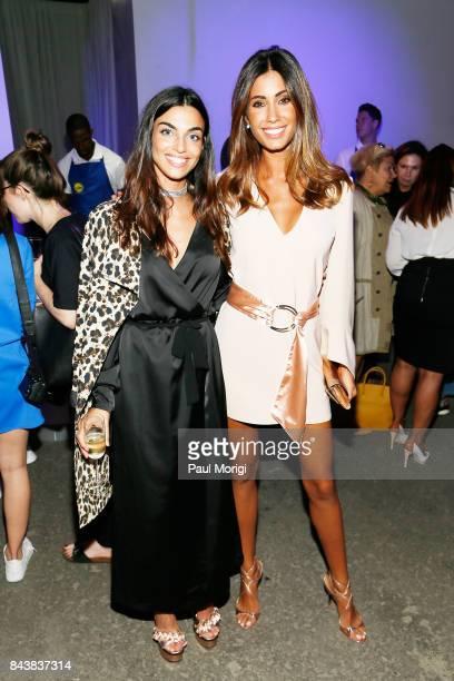 Global 6 Influencer Nicole Mazzocato and model Federica Nargi attend the Esmara By Heidi Klum Lidl Fashion Presentation at New York Fashion Week...
