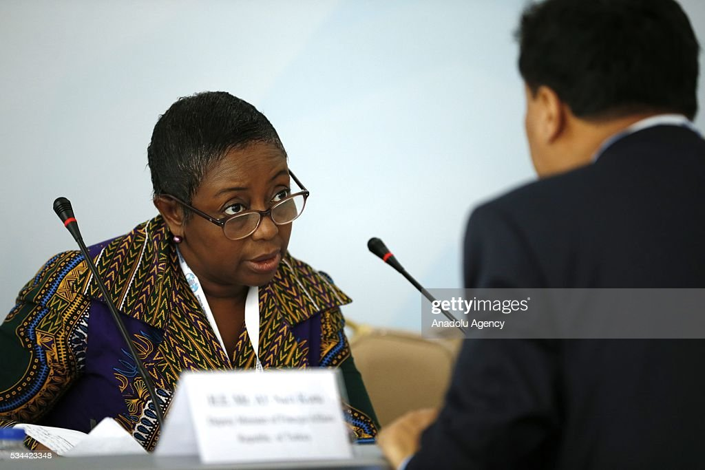 Global alliance of national, regional and international Civil Society Organisations LDC Watch member Huguette Bokpe Gnacadja attends a Civil Society Forum within Midterm Review of the Istanbul Programme of Action at the Titanic Hotel in Antalya, Turkey on May 26, 2016. The Midterm Review conference for the Istanbul Programme of Action for the Least Developed Countries will take place in Antalya, Turkey from 27-29 May 2016. The conference will undertake a comprehensive review of the implementation of the Istanbul Programme of Action by the least developed countries (LDCs) and their development partners and likewise reaffirm the global commitment to address the special needs of the LDCs.