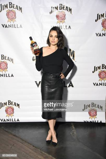 Global brand partner Mila Kunis attends the official launch party for Jim Beam® Vanilla the newest flavored product from Jim Beam® Bourbon on Monday...