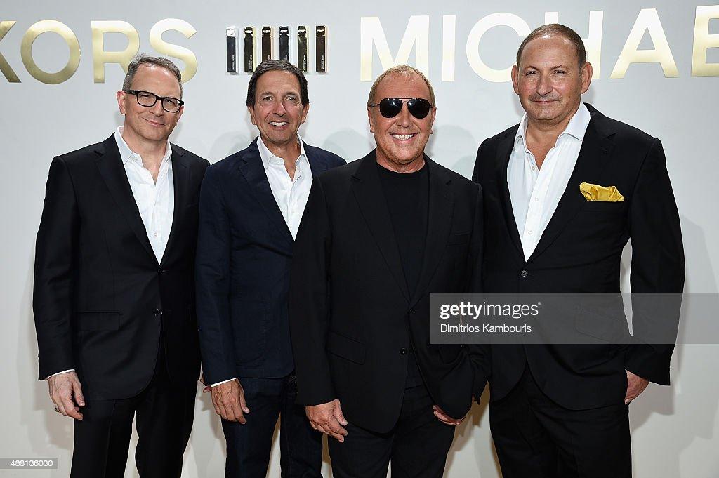 Global Brand President of Aramis Designer Fragrances Daniel Annese Chairman CEO of Michael Kors John Idol designer Michael Kors and Group President...