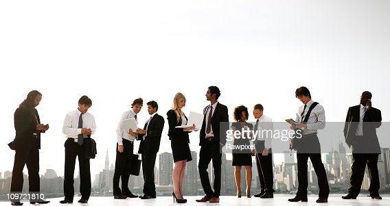 Global busines people in the City : Stock Photo