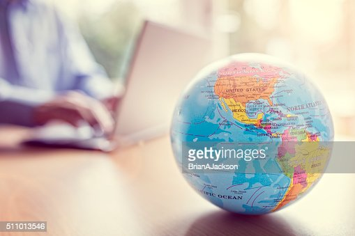 Global business and communications : Stock Photo