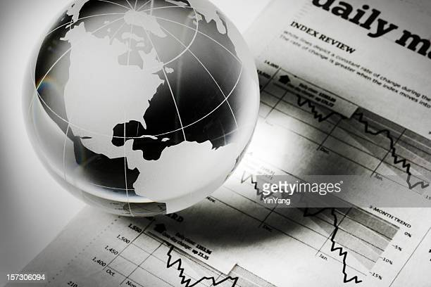 Global Business and Finance with Newspaper Investment Page Forecasting Recession