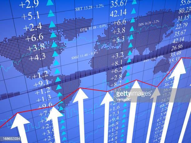 グローバルビジネス財務グラフチャート