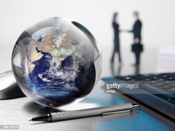 Global de negocios en la oficina