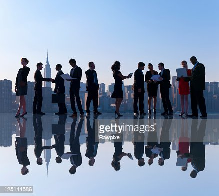 Global Business people in New York city : Stock Photo