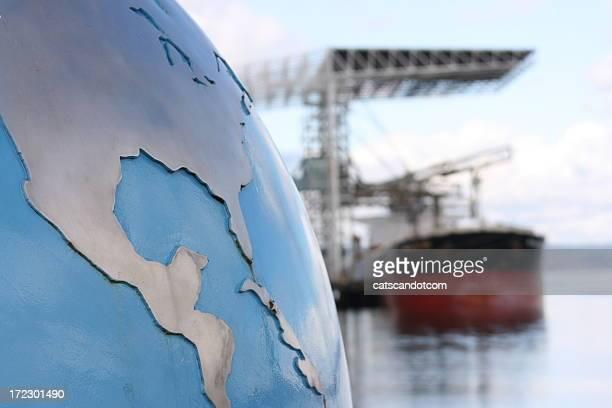 Conceito de transporte de carga Global