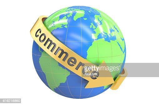 Global Commerce 3D rendering : Stockfoto