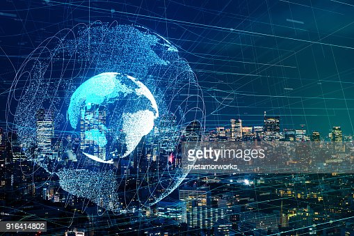 글로벌 통신 네트워크 개념입니다. : 스톡 사진