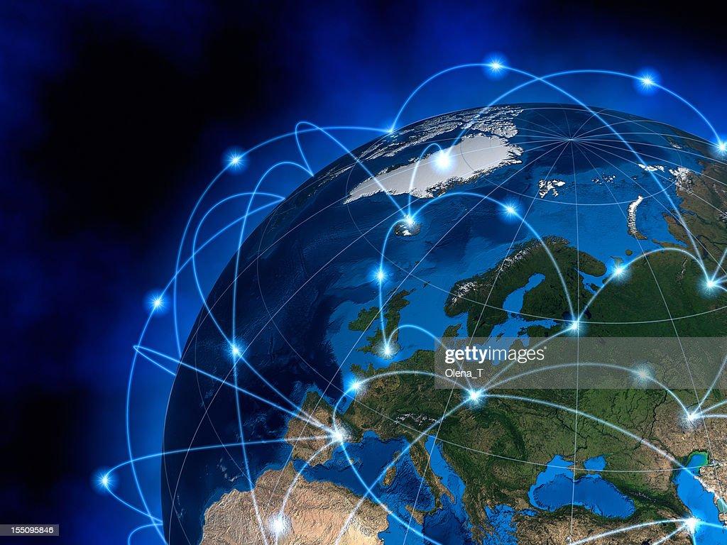 グローバルコミュニケーション、ヨーロッパ : ストックフォト