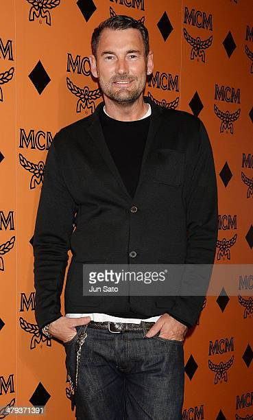 Global creative director Michael Michalsky attends MCM Heritage Exhibition Photocall at AUDI Forum on March 18 2014 in Tokyo Japan