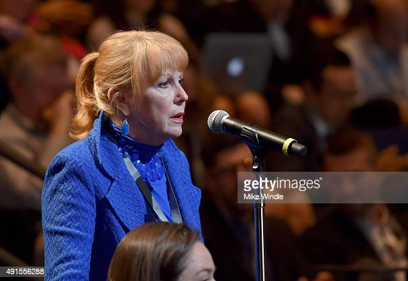 Global Cyber Risk CEO Jody Westby speaks onstage at the Vanity Fair New Establishment Summit at Yerba Buena Center for the Arts on October 6 2015 in...