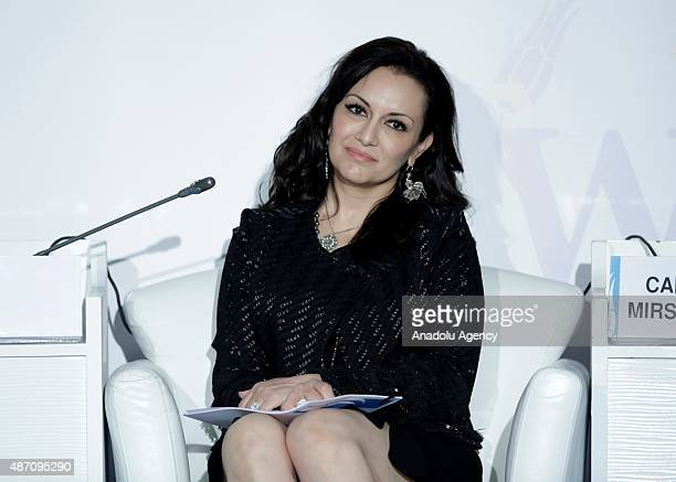Global Director of Leadership Development Accenture Depunt Chairperson and Chief Executive Officer Camille Mirshokrai attends the Women20 Turkey...