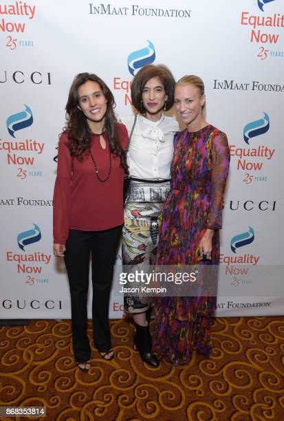 Global Executive Director of Equality Now Yasmeen Hassan poses with Honorees Brisa De Angulo Founder and CEO of A Breeze of Hope and Susan Chokachi...
