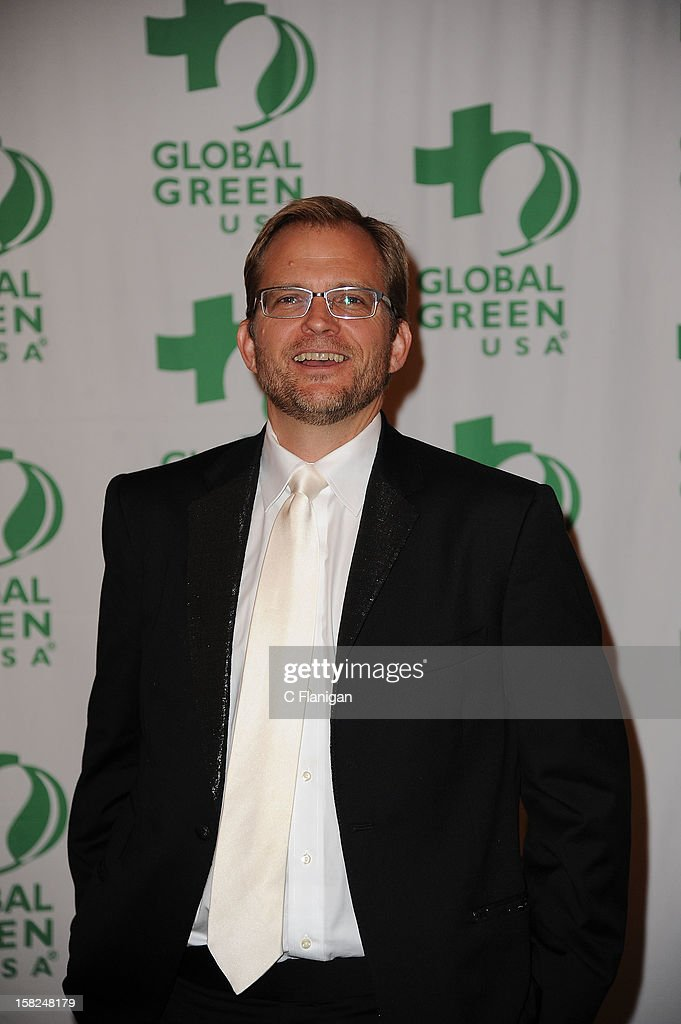Global Green President <a gi-track='captionPersonalityLinkClicked' href=/galleries/search?phrase=Matt+Petersen&family=editorial&specificpeople=221572 ng-click='$event.stopPropagation()'>Matt Petersen</a> poses backstage during the Global Green Gorgeous & Green Gala at The Bently Reserve on December 11, 2012 in San Francisco, California.