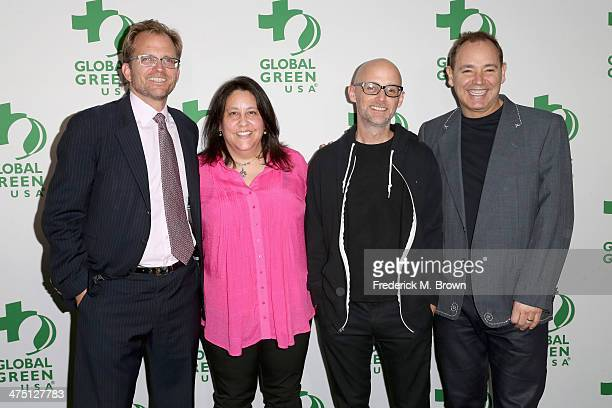 Global Green USA Event CoFounder and Board Member Matt Petersen Global Green USA Interim Executive Director Mary Luevano musicians Moby and The...
