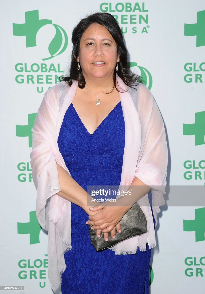 Global Green USA Interim Executive Director Mary Luevano arrives at Global Green USA's 18th Annual Millennium Awards at Fairmont Miramar Hotel on June 7, 2014 in Los Angeles, California.