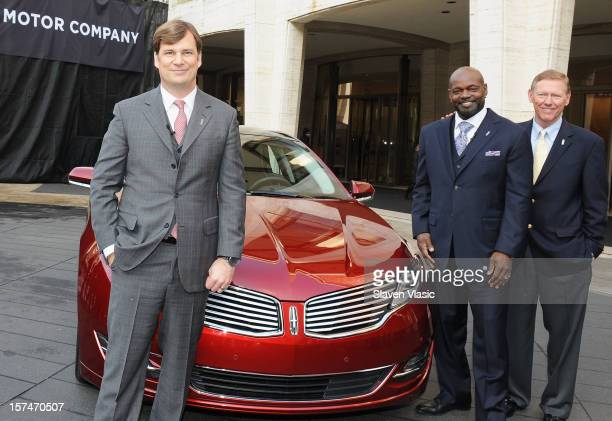 Global Head of Lincoln Motor Company Jim Farley Lincoln Motor Company Ambassador Emmitt Smith and President and CEO of Ford Motor Company Alan...