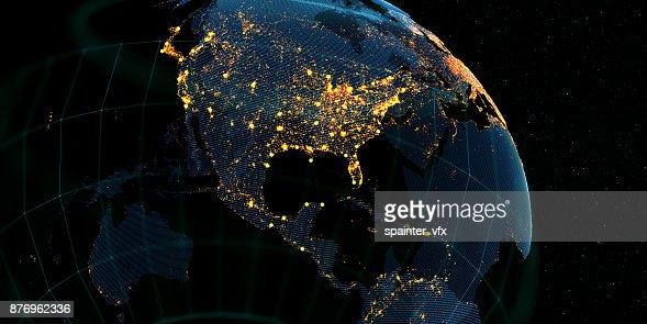 Global International Connectivity Background : Stock Photo