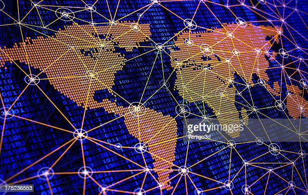 Global internet map network connection