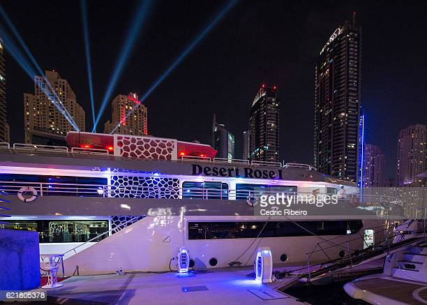 Global launch of Tulwe Music App hosted by Boris Kodjoe with performances by Akon Davido and Becca on the Desert Rose Yatch at Dubai Marina on...